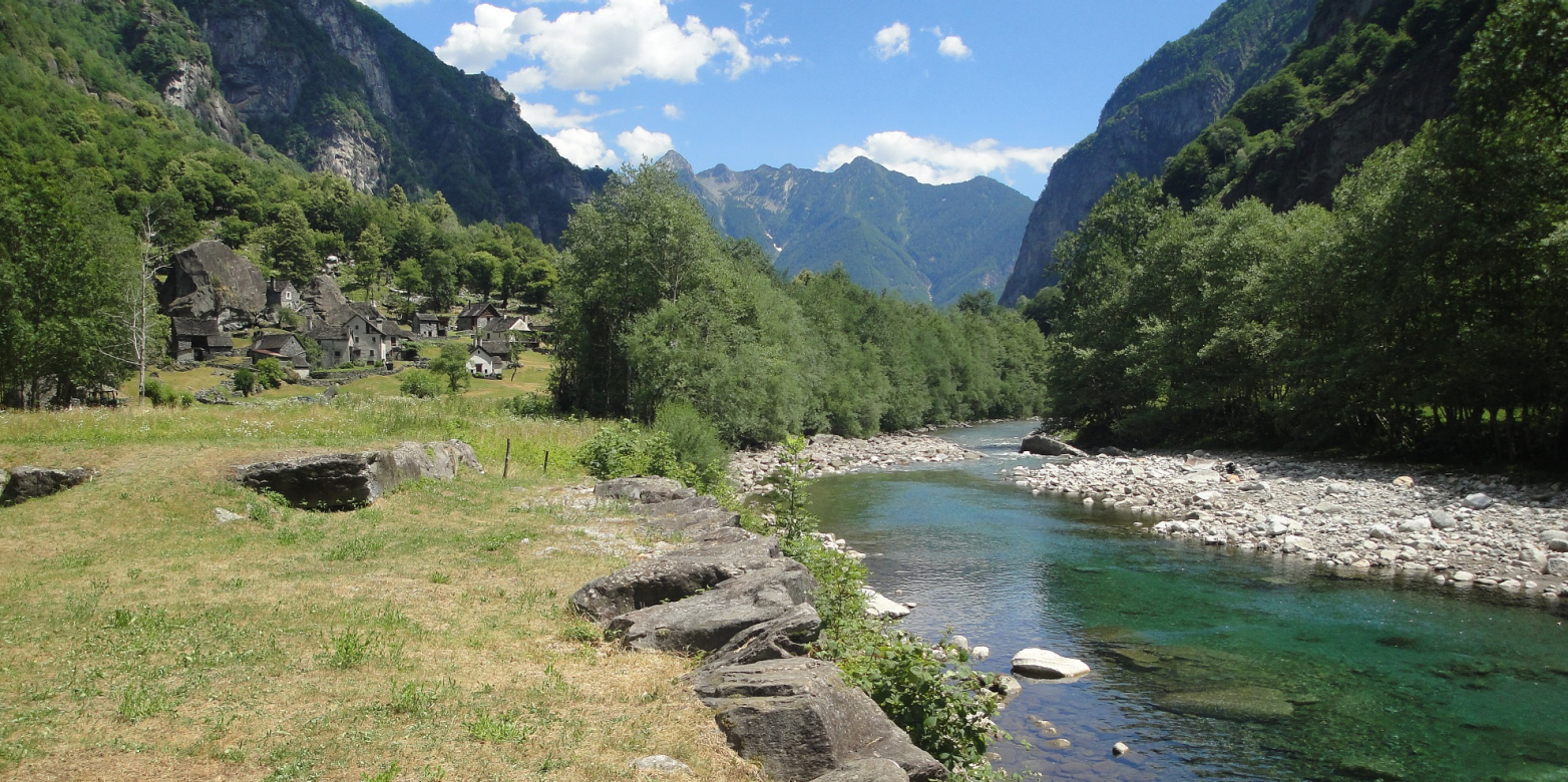 Maggia river, Switzerland